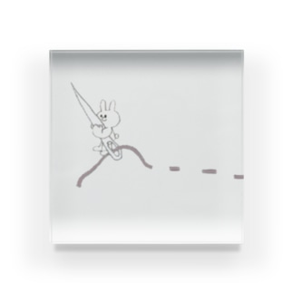 ちくちくお裁縫ウサギ Acrylic Block