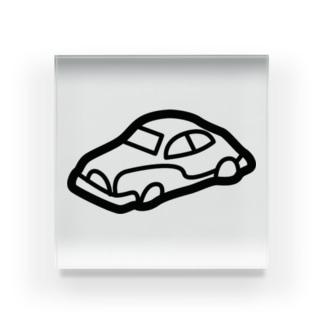 retro-Car Acrylic Block