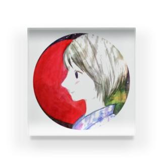 暁と散切り(丸)背面アリ Acrylic Block