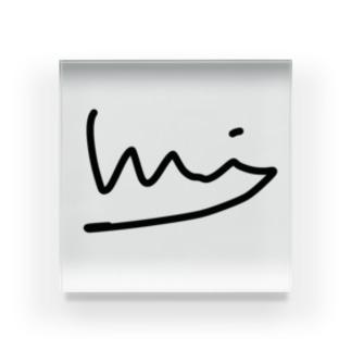 龍ロゴ Acrylic Block