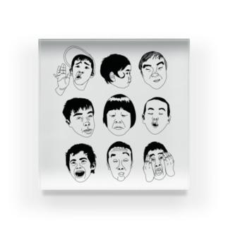 Funny Face Acrylic Block