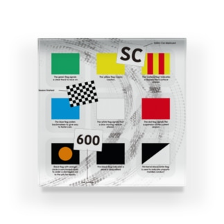 Motorsports FLAGs Acrylic Block