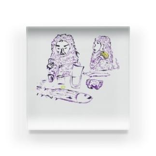 マンキーカップル Acrylic Block
