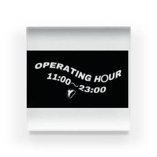 OPERATING  HOUR Acrylic Block