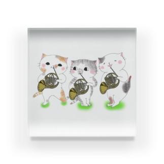 ホルン猫 Acrylic Block