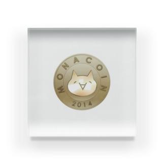 Monacoin(モナコイン) Acrylic Block