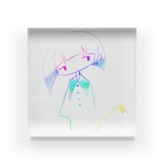 レインボーガール Acrylic Block