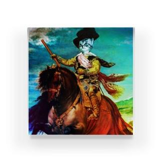 馬に乗る猫 Acrylic Block