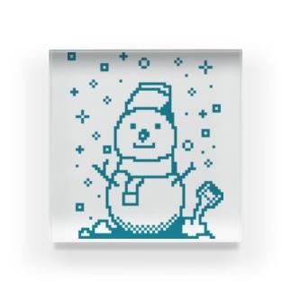 雪だるま Acrylic Block