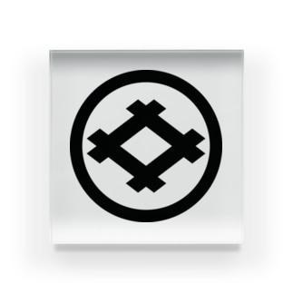 丸に井桁 Acrylic Block
