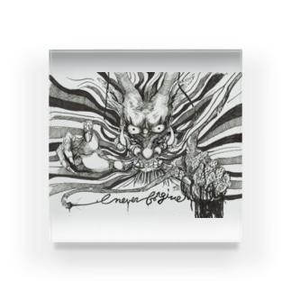 ドラゴン-Never Frogive1 Acrylic Block