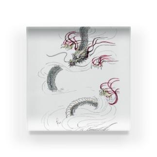 和風ドラゴン Japanese Dragon Acrylic Block