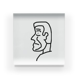 横顔さん Acrylic Block