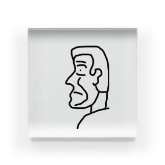 底辺君の横顔さん Acrylic Block