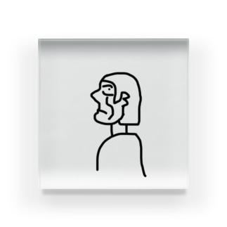 横顔ちゃん Acrylic Block