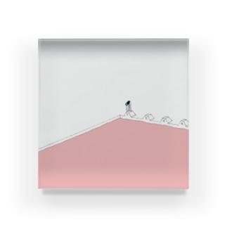 夏のピンクプール Acrylic Block
