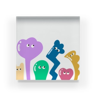 COLORFUL BUDDIES Acrylic Block