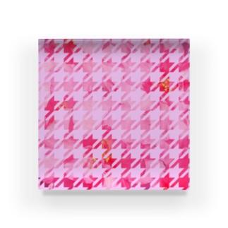 千鳥お花 Acrylic Block