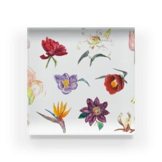 お気に入りの花 Acrylic Block