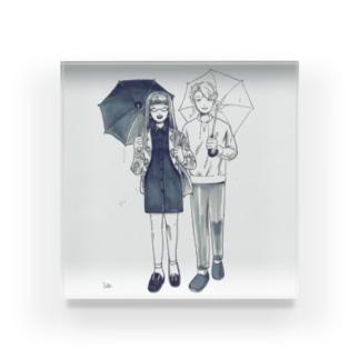雨の日 Acrylic Block