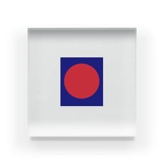 強烈な赤 Acrylic Block