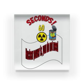 原子力は、いらない! Acrylic Block