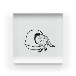トイレ砂ザッザ Acrylic Block