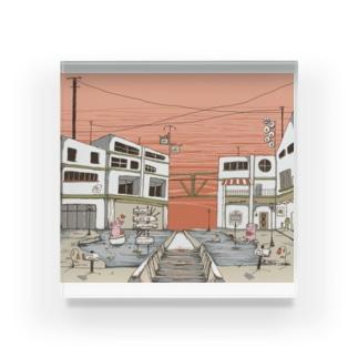 あるなちゃん 愛の溢れる街 Acrylic Block