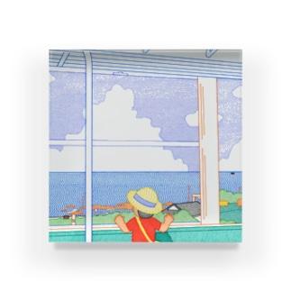 電車から海 Acrylic Block