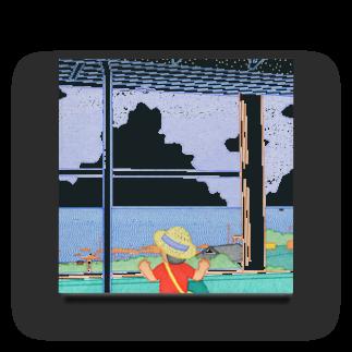 中村隆の電車から海 Acrylic Block