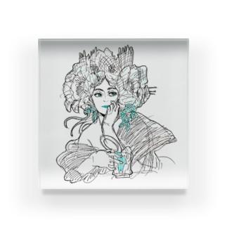 hanamituの女性の憂鬱 Acrylic Block