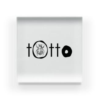 tottoロゴ Acrylic Block