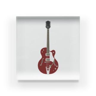 ギター レッド Acrylic Block
