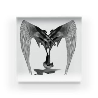 black wing Acrylic Block