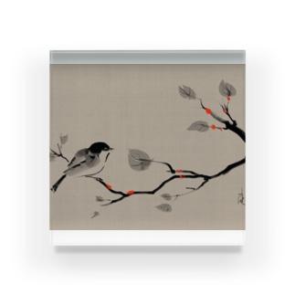 鳥 水墨画 Bird Ink Painting Acrylic Block