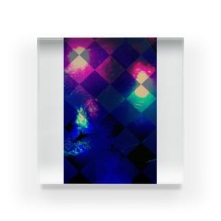 Mi vida loca  極彩色 Acrylic Block