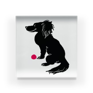 a ball is love, love is a ball. Acrylic Block