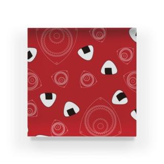 回れ焼きおにぎり 赤色 Acrylic Block
