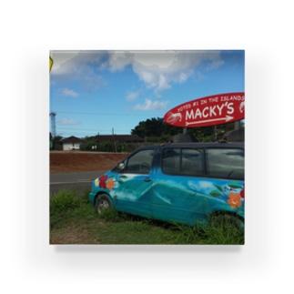 Hawaiian Garlic Shrimp - MACKY Acrylic Block