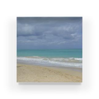 ハワイ・オアフ島 ワイマナロビーチ Acrylic Block