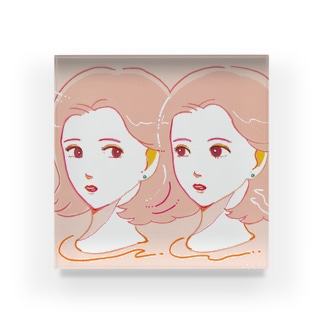 pink girls Acrylic Block