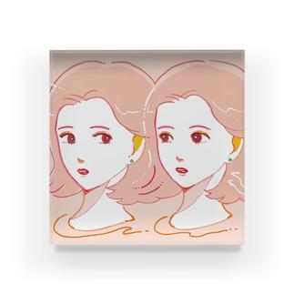 pink girls Acrylic Block