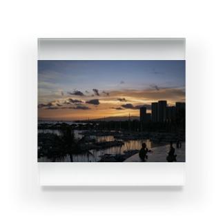 Waikiki's Infinity sunset Acrylic Block