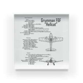 ヘルキャットF6F:戦闘機:アメリカ軍:米軍:WW2:第二次世界大戦:太平洋戦争 Acrylic Block