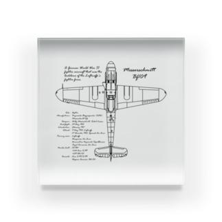 メッサーシュミット:戦闘機:ドイツ軍:ナチス:WW2:第二次世界大戦:太平洋戦争 Acrylic Block