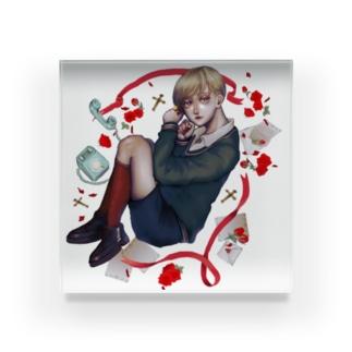 美少年と一緒 Acrylic Block