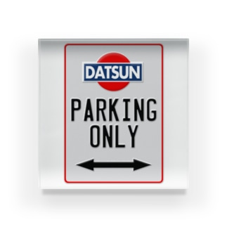 DATSUN parking only Acrylic Block
