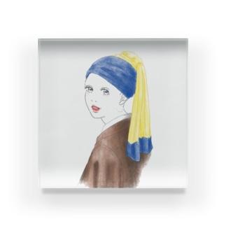 耳飾りの少女 Acrylic Block