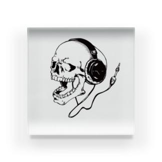 skull music Acrylic Block