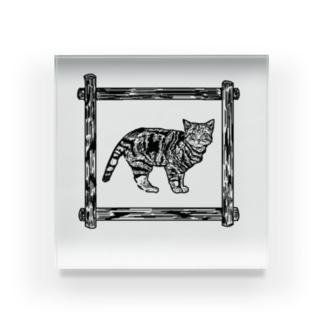 にゃん Acrylic Block